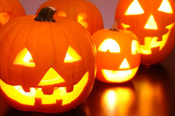 かぼちゃのランタン。